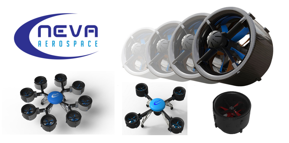 Neva Aerospace electric turbofans optimized for static thrust for VTOLs